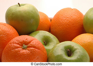 apples oranges 1 - green apples and navel oranges