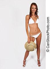 Woman standing in her bikini