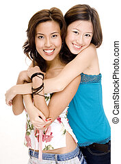 Friends 1 - Two young women with great smiles