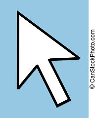 Cursor arrow pointer - Unpixellated computer arrow mouse...