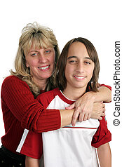 Mother Son Portrait - A portrait of a mother and son...