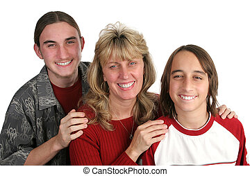 Single Mom & Sons - An attractive single mom and her...
