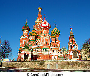 St. Basil Cathedral - A view of the St. Basil\'s Cathedral,...