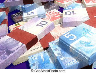 CanCash09 - Canadian Money Concept 3D