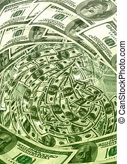 Cash Wave 02 - Money Abstract