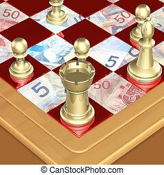 Finance Chess 02 - Chess Money Concept 3D