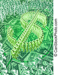 ManPower Dollar BG - Manpower Dollar Sign Symbol