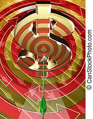 Target Dollar 04 - Target Dollar Symbol Concept