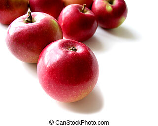 Apples 3 - Macintosh apples on white background, closeup