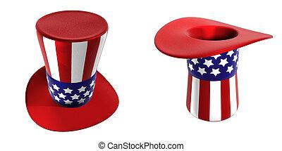 Uncle Sam Hats 3D