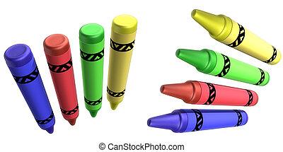Crayons - Generic Crayons 3D