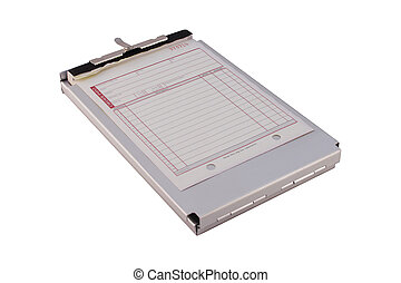 Sales Order Form - A sales order form on a metal clipboard...