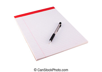 Legal Pad and Pencil - A legal pad and pencil isolated on a...