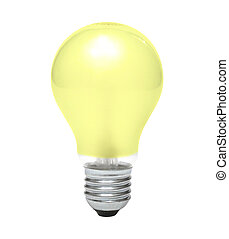 Yellow bulb - Opaque yellow bulb