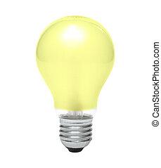 amarillo, bombilla
