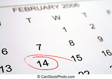 Valentine's day 2 - Calendar with Valentine's day (2006)...