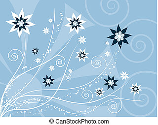 Floral abstract - Abstract floral background
