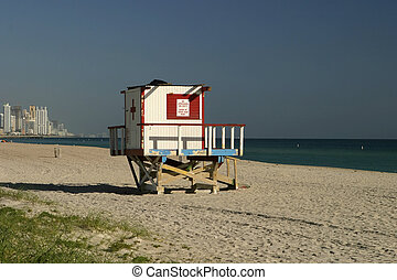 Lifeguard Shack - A lifeguard tower in Surfside (Florida)...