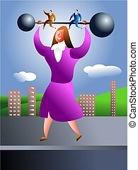 strong woman - business power