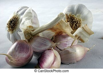 Open Garlic Cloves