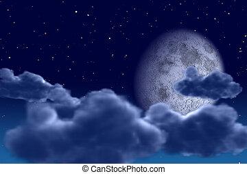 夜晚, 天空