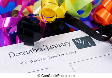 New Years - Photo of New Years on a Calendar