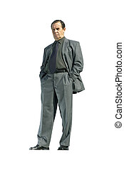businessman isolated - businessman isolated with clipping...