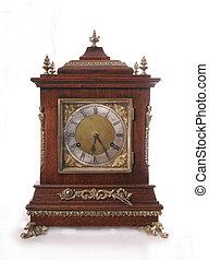 Antique clock - Isolated picture of antique clock