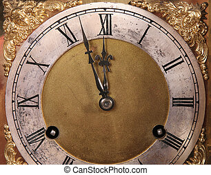 Clock face - antique clock face