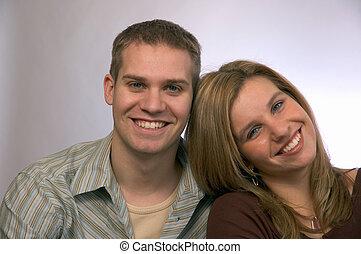 giovane, coppia