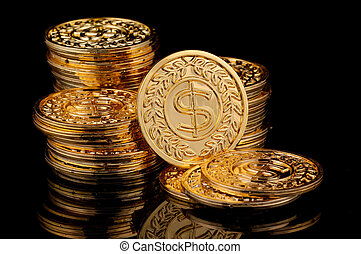 Gold Coins - Photo of Gold Coins