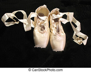 pair of grace - one pair of worn pointe (toe) shoes,...
