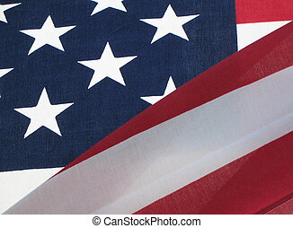 stars and stripes - American flag waving in the breeze, with...
