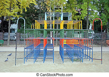 Jungle gym - Colorful jungle gym in a playground
