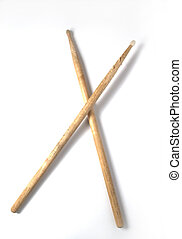 Cossed DrumSticks - Isolated crossed frumsticks
