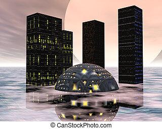 città, futuro, due