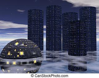 città, futuro, cinque