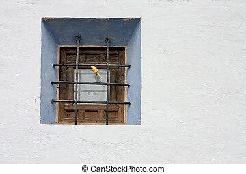 rural window - window in Spain