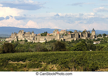 Carcassonne - Ancient city of Carcassonne,France