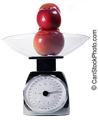 Food Scale - Food scale with apples in bowl