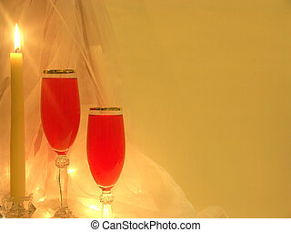 Candlelight & Glass - Photo showing candelight and champagne...