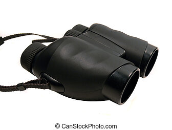 Black Binoculars - Isolated Black Binoculars