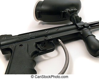 paintball gun - paintball marker on white background