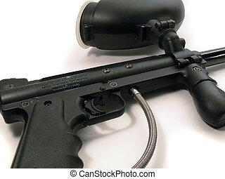 paintball gun - paintball marker on white background
