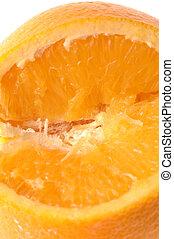 umbigo, laranja, macro