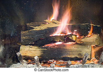 Warm winter fire place - Fire Place
