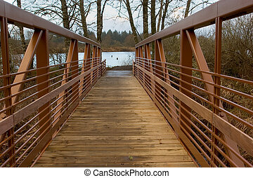 Walking Bridge - Photo of a newly constructed walking bridge...