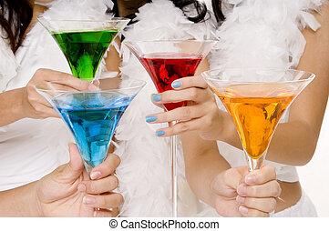 Cocktails #4 - Four colorful cocktails