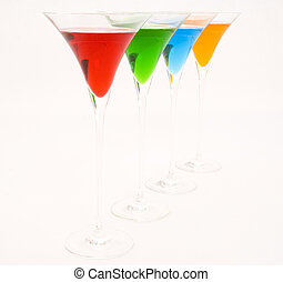 Cocktails 6 - Four colorful cocktails