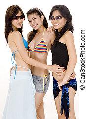 Beach Babes #10 - Three cute asian women in beach wear